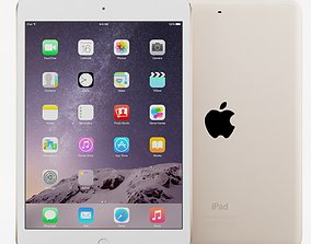 Apple iPad mini 3 Gold 3D model