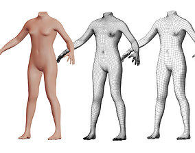 3D model Character 18 High and Low-poly - Body male