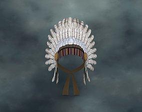 WEAR-020 Indian headdress 3D model