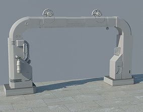scifi gate Game ready 3D model