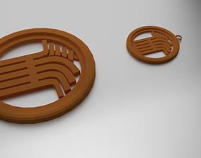 Glass Coaster Demeter and Pendant 3D print model