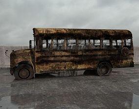 3D model destroyed bus 005 am165