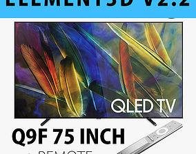 E3D - Samsung Q9F 75 Inch Remote QLED 4K TV 3D model