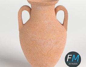 3D Amphora Jar Vase