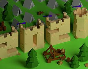 3D asset Isometric 2021 Castle