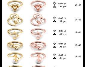150 Light wt Women ring 3dm stl render detail 3D print