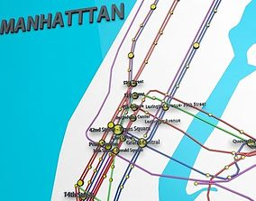 New York City Not Official Subway Map 3D model