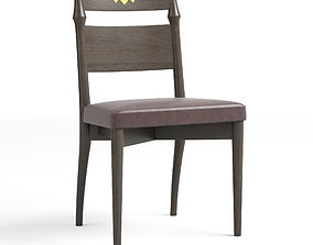 Neely Dining Chair Graphite Leather 3D