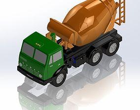 KamAZ concrete mixer 3D print model