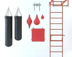 Boxing Equipment Set 3D model