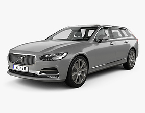 3D model Volvo V90 T6 Inscription with HQ interior 2016