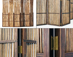 Screen thin branch wood decor n1 3D model