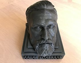 Conor McGregor head on simple base 3D print file