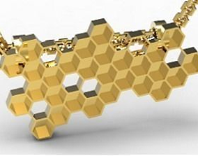 3D printable model honey pendant