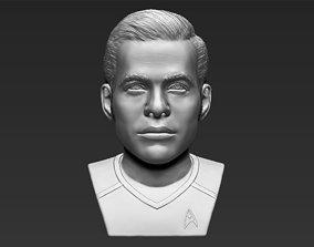 Captain Kirk Chris Pine Star Trek bust 3D printing 3