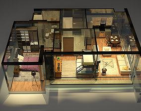 Section Pack Scene 3D model