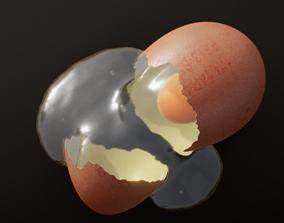 broken eggs 3D asset