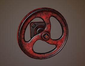 Valve 3D asset low-poly