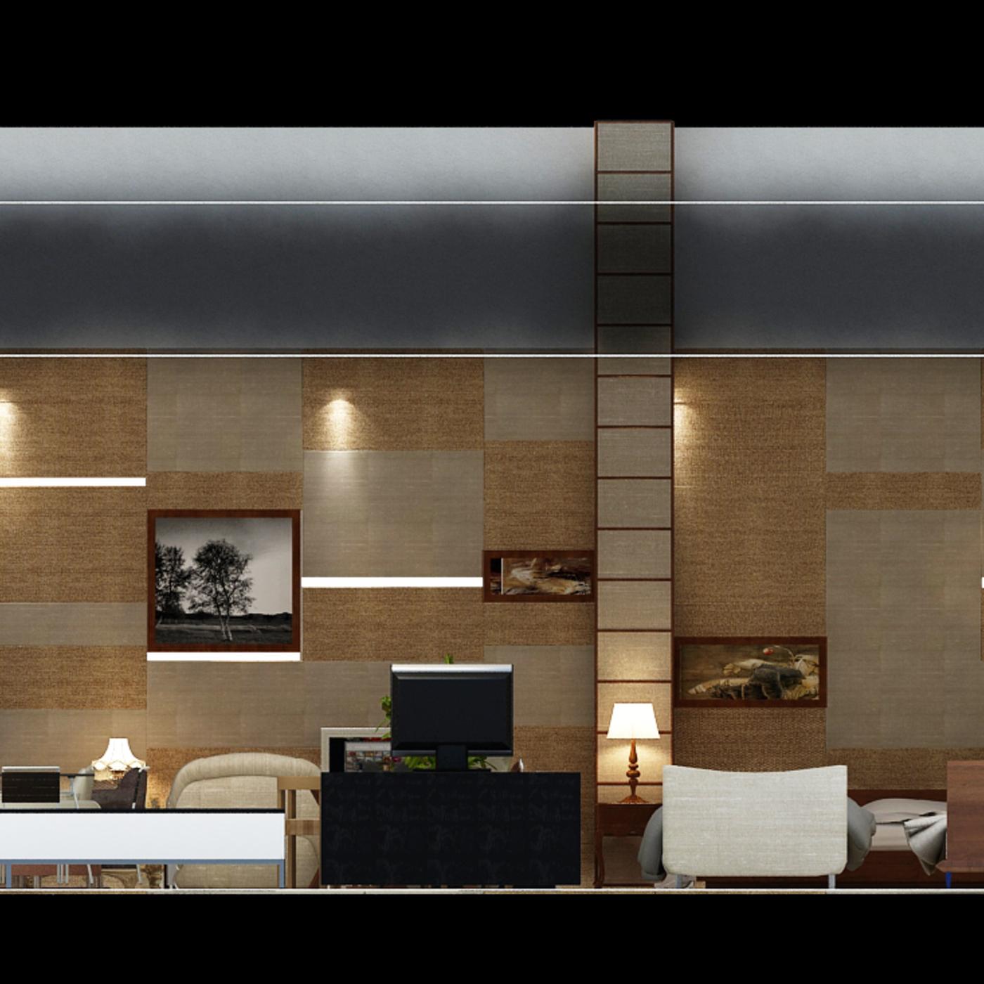 Interior design for furniture exhibition - city of Djibouti