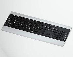 Silver And Black Keyboard 3D model