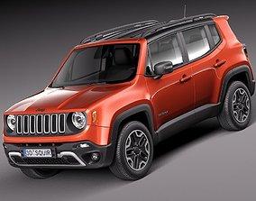 3D model Jeep Renegade 2015