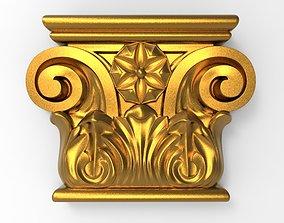 carved bracket element 3D