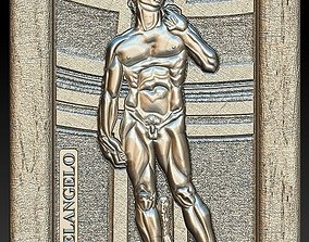 3D printable model David by Michelangelo for Embossing 2