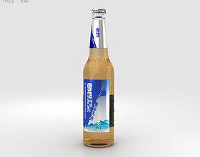 3D Snow Beer Bottle
