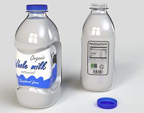 3D model Milk bottle 2L 3rd concept