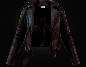 3D model clothing Leather Jacket