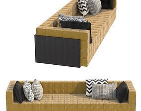 3D Casa Cor yellow sofa by Guilherme Torres