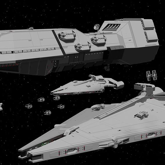 Small Impirial Fleet - Star Wars - Fan-Art