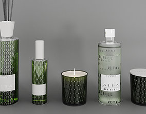 5-piece decorative set Alba from Linari 3D model