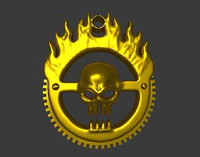 pirate pendant v2 3D printable model