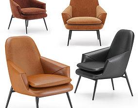 Wendelbo hug lounge chair 3D model