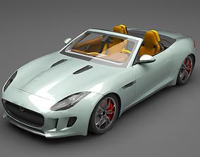 3D Jaguar F Type fast