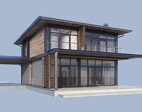 Modern House model Contemporary exterior building
