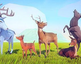 3D model Poly Art Deer