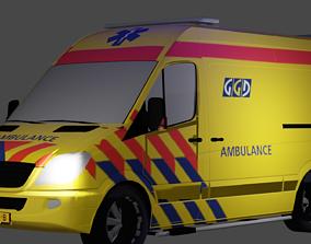 Ambulance Mercedes Sprinter 3D asset