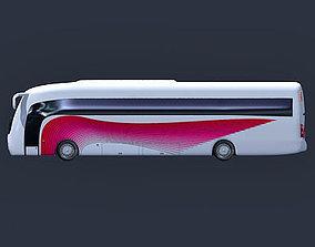 White Pink Bus 4 3D model