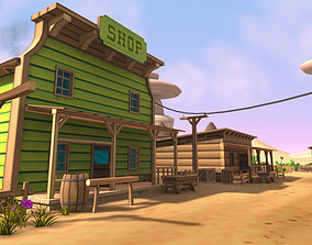 3D Cartoon Western Pack Vol 2 low-poly