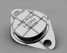 3D asset Transistors Diode Capacitor
