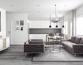 architecture 3D scandinavian interior