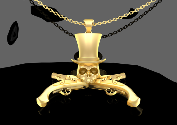 Hood Pendant Jewelry Gold 3D print model
