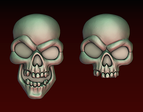 3D print model Skull bas-relief