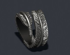 3D printable model feather ring
