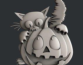 3d STL models for CNC halloween pumpkin