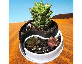 3D printable model Yin-Yang Planter