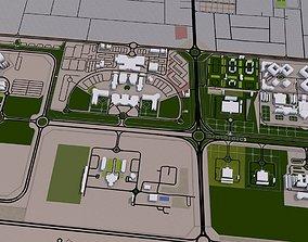 3D asset Sharjah City UAE