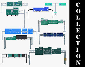 3D model 10 Highway Sign Collection